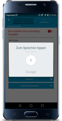 Haushaltsbuch App Android Test